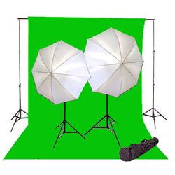 800 Watt Photo Studio Continous Lighting kit, Background Support, and Muslin Background, NEWCB_BWG_800WKIT