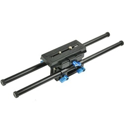 Pro 15mm Rail Rod Support with Quick-Release Plate for DSLR DV, Follow Focus Railsystem