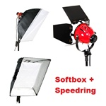 "24"" x 32"" Photo Studio Softbox Only for 800 Watt Red Head Quartz Tungsten Video Lamp, SOFTBOX FOR REDHEAD ONLY"
