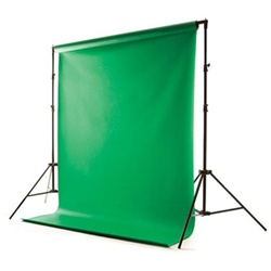 Background Support System with Vinyl Backdrop & Carry Case - Black, White or Green, SUPPORT_VINYL