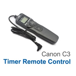 Timer Remote Control Shutter for Canon  EOS 50D / 40D / 30D / 20D Canon EOS 5D / 5D II / 7D Canon EOS 1D Mark III / 1D Mark II N / 1Ds Mark II / 1D Mark II Canon EOS 1Ds / 1D Canon EOS 1V / 1VHS / 3 / D60 / D30, TIMER-C3