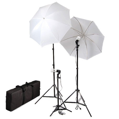 photo studio umbrella continuous lighting kits with carrying case